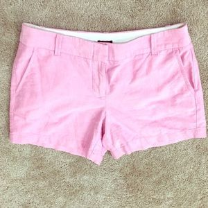J Crew city fit pink shorts